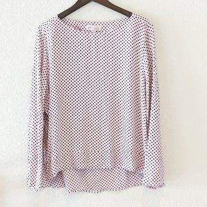Philosophy Light Pink and Brown Polka Dot Top XL